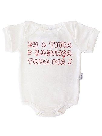Body Divertido para Bebê Sonho Meu Bagunça Todo Dia Natural
