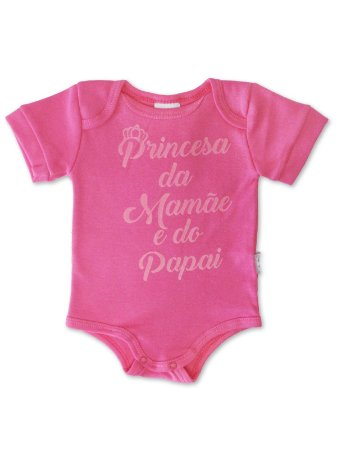 Body Divertido para Bebê Sonho Meu Princesa Pink