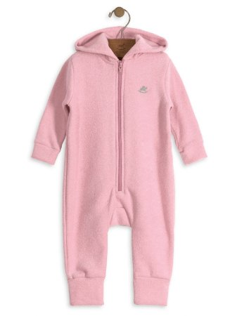 Macacão Up Baby em Plush Buckle Rosa