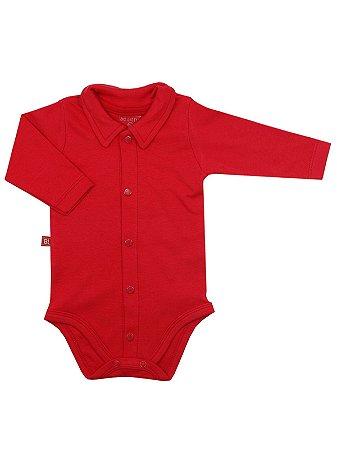 Body Be Little Camisa Longa Vermelho