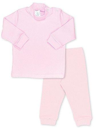 Conjunto Blusa e Calça Canelada RoseBud 2 peças Rosa