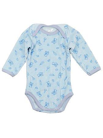 Body para Bebê Prematuro Be Little Bear Plush Azul