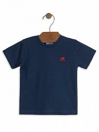 Camiseta Up Baby Básica Manga Curta Azul Marinho