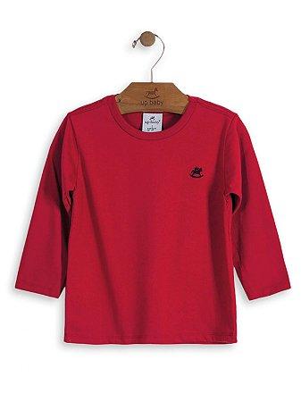 Camiseta Up Baby Básica Manga Longa Vermelha