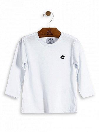 Camiseta Up Baby Básica Manga Longa Branca