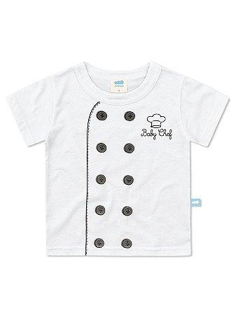 Camiseta Marlan fantasia Baby Chef Branca