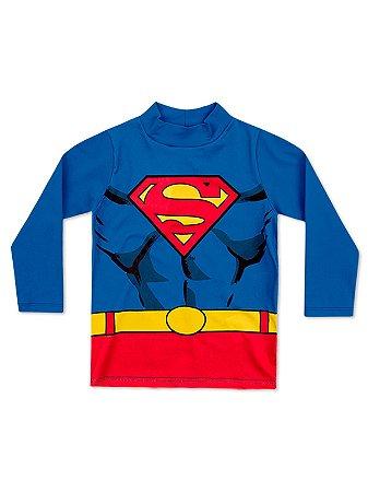 Camiseta Marlan Longa UV Super Homem Azul