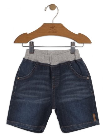 Bermuda Up Baby Infantil Jeans Azul Escuro