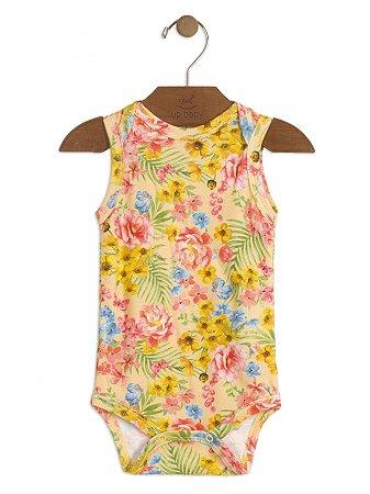 Body Regata Up Baby Floral Amarelo