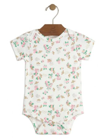 Body Up Baby Suedine Curta Floral Creme