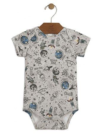 Body Up Baby Suedine Curta Space Cinza