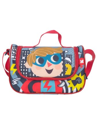 Lancheira Térmica Ó Design Infantil com Alça Heróis