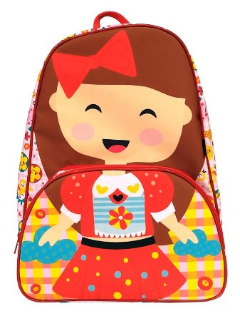 Mochila Escolar Ó Design Infantil Boneca
