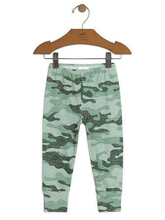 Calça Up baby Culote Suedine Militar Verde