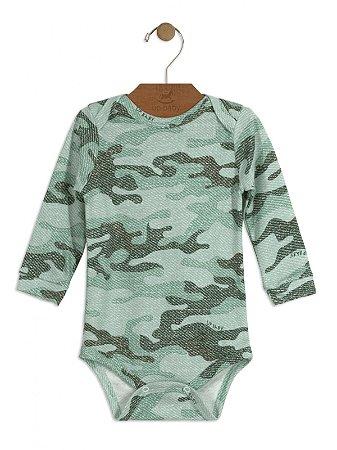 Body Up Baby Longa Suedine Militar Verde