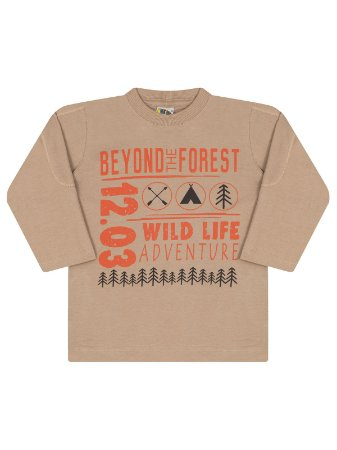 Camiseta Molekada Infantil Longa Beyond The Forest Bege