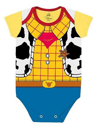 Body para bebê Marlan Fantasia Manga Curta Woody