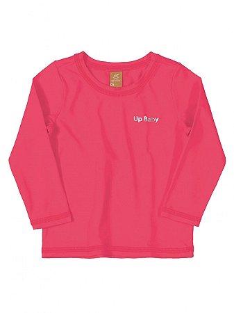Camiseta Surfista Up Baby Longa FPS Pink Fluor