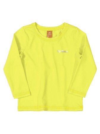 Camiseta Surfista Up Baby Longa FPS Amarelo Fluor