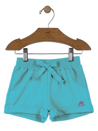 Short Up Baby Moletom Azul