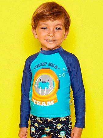 Camiseta Puket FPS Surfista Morsa Azul