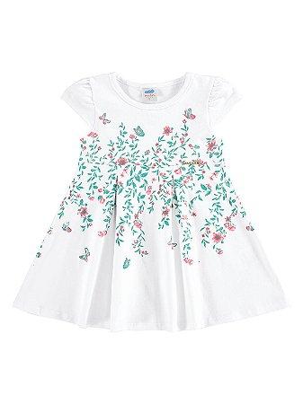 Vestido Marlan Bebê Floral Branco