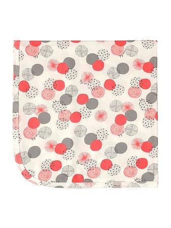 Manta Up Baby Suedine Geometrico Dots Off White