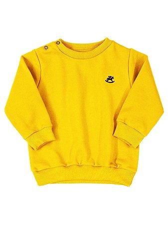 Blusão Up Baby Moletom Longa Básico Amarelo