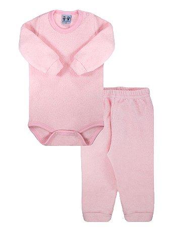 Conjunto Rosebud Body Calça Longa Soft Glacê Rosa