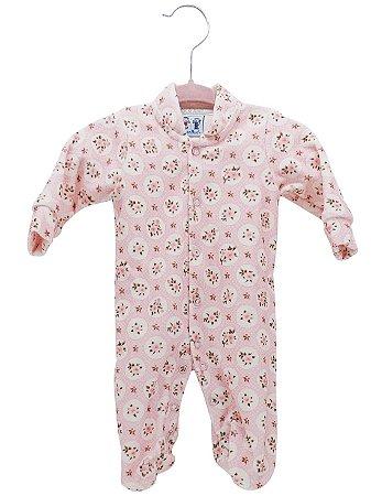 Macacão Rosebud para Bebê prematuro Plush Floral Rosa