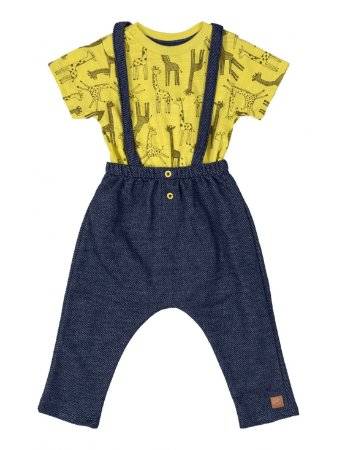 Conjunto para Bebê Up Baby BodyCurta e Calça Amarela