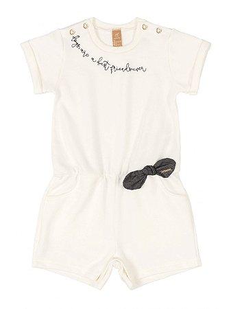 Macaquinho Up Baby em Moletom Fashion Natural
