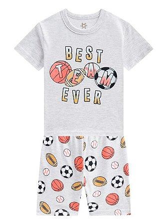 Pijama Brandili Balls Malha Curto Infantil Masculino