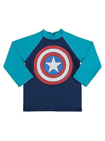 Camiseta Surfista Marlan FPS Longa Avengers Capitão América