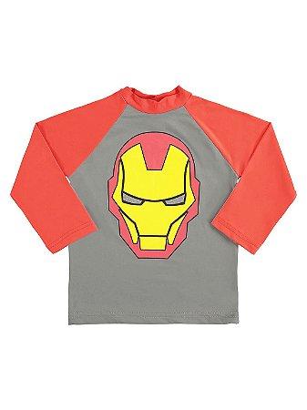 Camiseta Surfista Marlan FPS Longa Avengers Homem de Ferro
