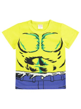 Camiseta Marlan Curta Malha Avengers Marvel Hulk