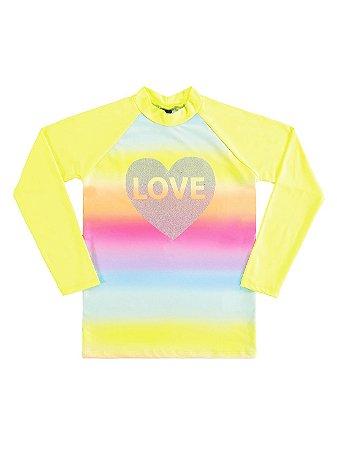 Camiseta Marlan Praia UV Proteção FPS Longa Love