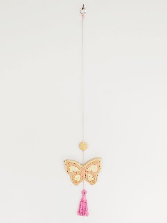 Móbile Decorativo Ceramekids para quarto de Bebê Borboleta Rosa