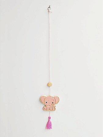 Móbile Decorativo Ceramekids para quarto de Bebê Elefante Rosa