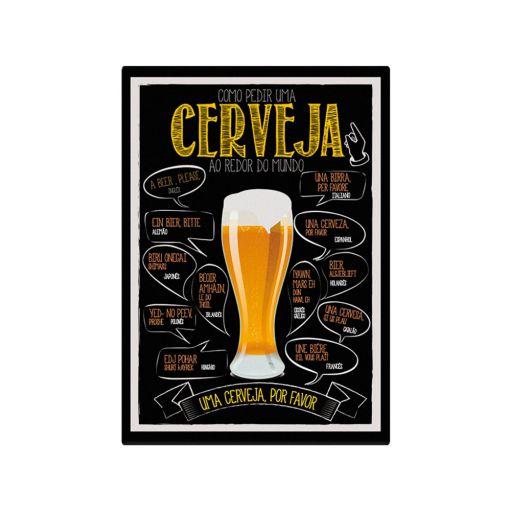 Quadro como pedir cerveja pelo mundo!