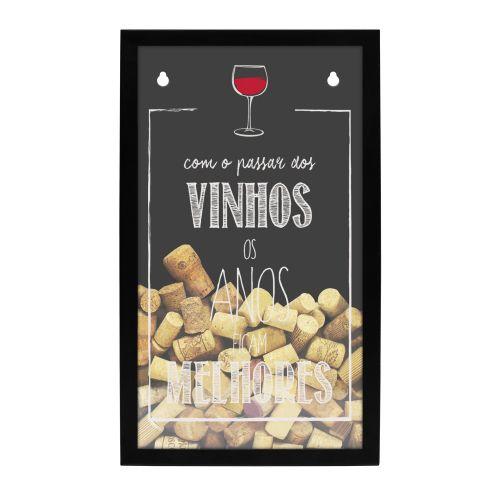 Quadro Porta Rolhas - Passar dos vinhos
