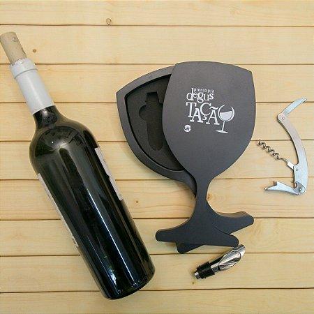 Kit para vinho Taça degustação