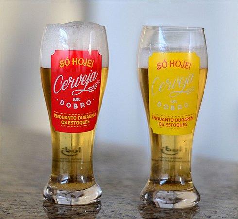 Conjunto de tulipas Cerveja dobro