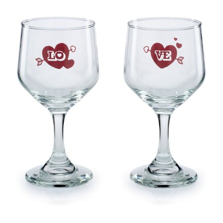 Conjunto de Taças de vinho LoVe