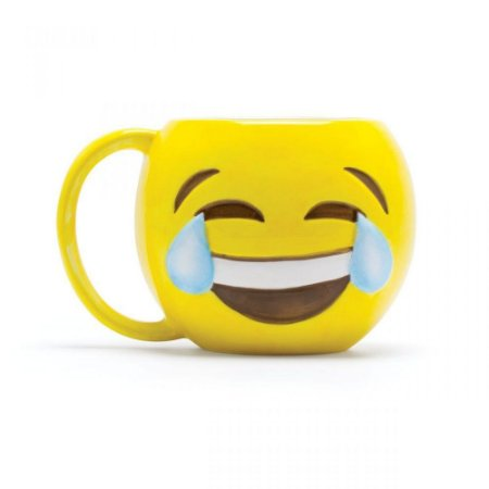 Caneca emoji Chorando de rir