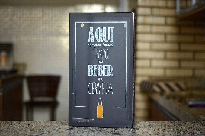 Quadro porta tampinhas - Tempo pra beber