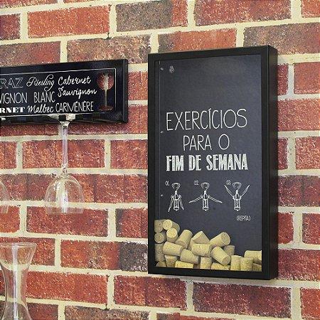 Porta rolhas de parede Exercícios de final de semana