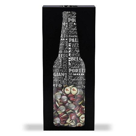 Porta tampinha grande formato garrafa