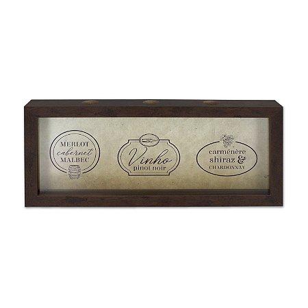 Porta rolhas horizontal de parede - Tipos de vinho
