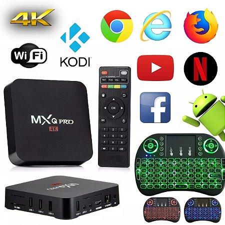 Kit Tv Box Pro 4k Android 2gb Ram 16gb + Mini Teclado  Led